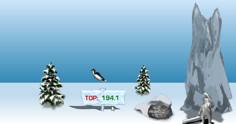 Pingu Throw game screenshot